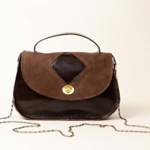Classic Leather Top Handle & Shoulder Bag – Lorla Two Tone Brown
