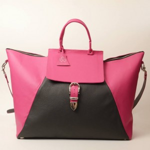 Classic Leather Weekender Bag – Kay Hot Pink