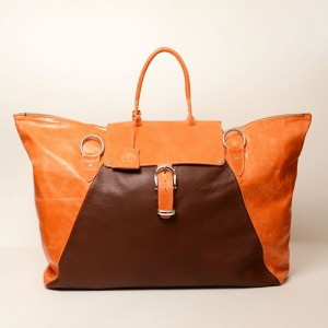 Classic Leather Weekender Bag – Kay Orange
