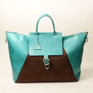 Classic Leather Weekender Bag – Kay Turquoise
