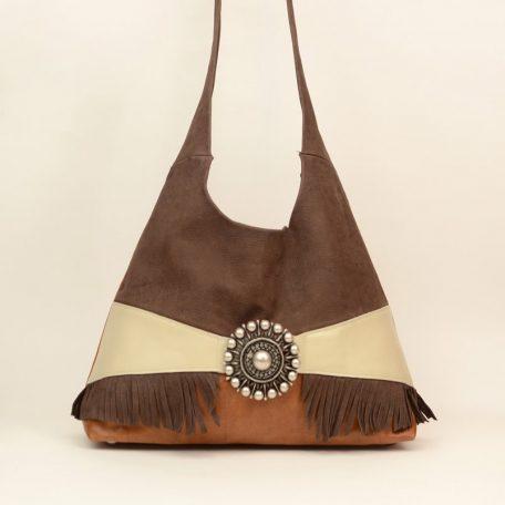 cross body leather shoulder bag - faith brown