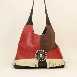 Cross Body Leather Shoulder Bag – Faith Red