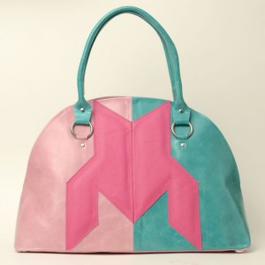 Dogtooth Leather Top Handle Bag – Belle Pink