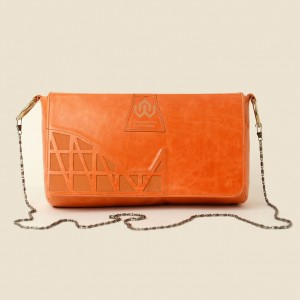 Leather Clutch & Shoulder Bag – Shadia Orange
