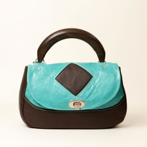 Leather Zebrano Wood Top Handle Bag – Lorla Turquoise
