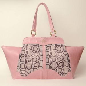 Luxury Leather Tote – Carole Snake Print