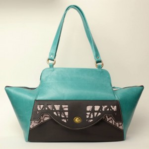 Luxury Leather Tote – Carole Turquoise