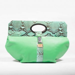 Soft Leather Python Clutch Bag – Andrea Green
