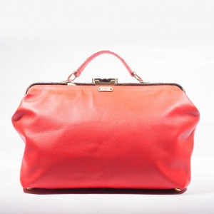 Traditional Leather Weekender Gladstone Bag – Rochelle Red