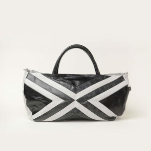 Soft Leather Tote Bag – Busu Black & White