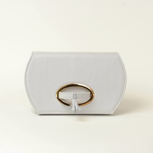 Structured Leather Clutch Bag – Shania-Mae