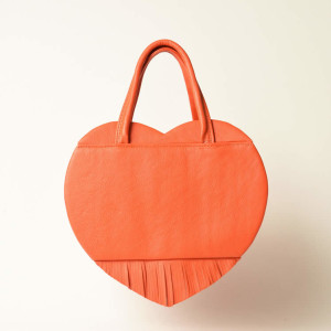 Structured Leather Heart Bag – Lizzy
