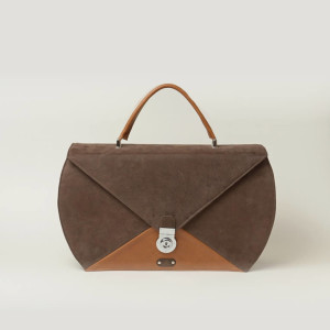 Structured Leather Work Bag – Lonyo Brown