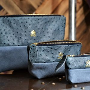 Set of three  blue purses
