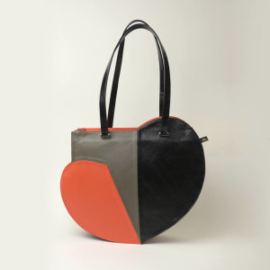 Structured Leather Weekender Bag – Shona