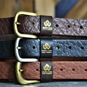 Handcrafted Buffalo Hide Belt Limited Edition