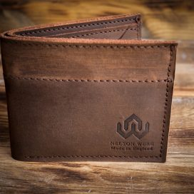 Handmade leather wallet nelsonwere